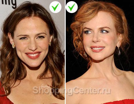 На фото: макияж к красному платью для шатенок и рыжих