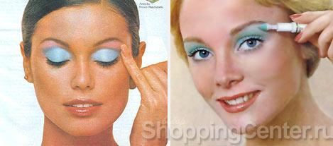 На фото: модный макияж в стиле 70-х годов