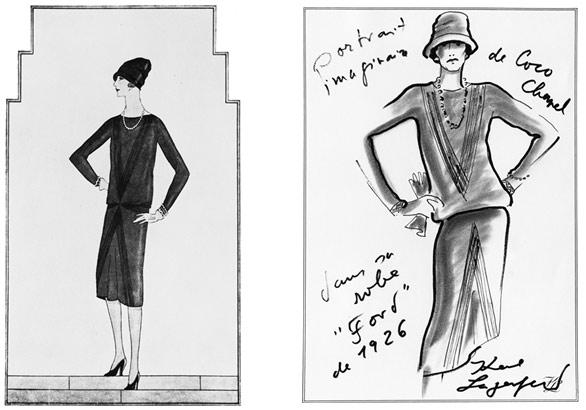 наброски новой модели платья знаменитой Коко Шанель