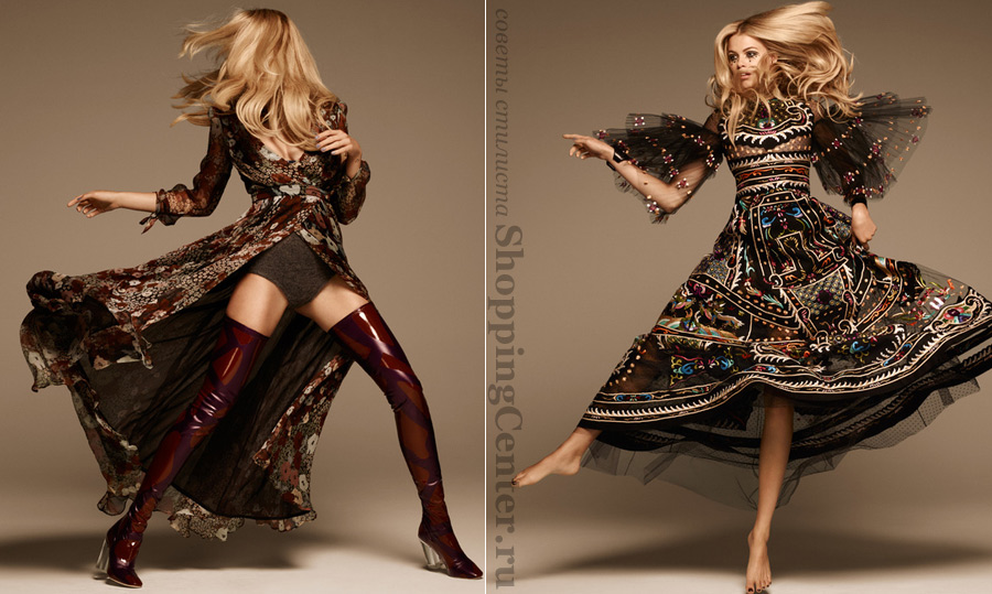 На фото Современная одежда в стиле 70-х годов (Hailey Clauson By Jason Kim For Grazia France)
