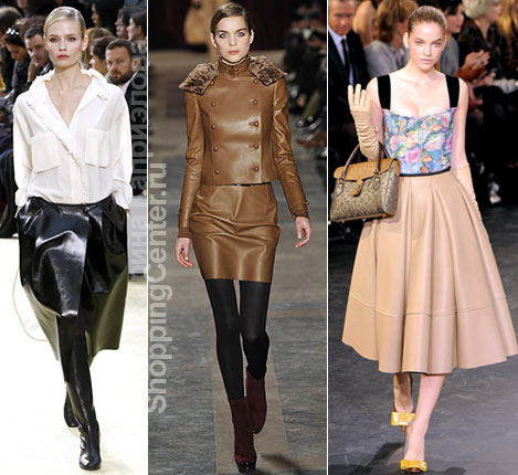Фото юбок из коллекций: Celine, Akris, Louis Vuitton