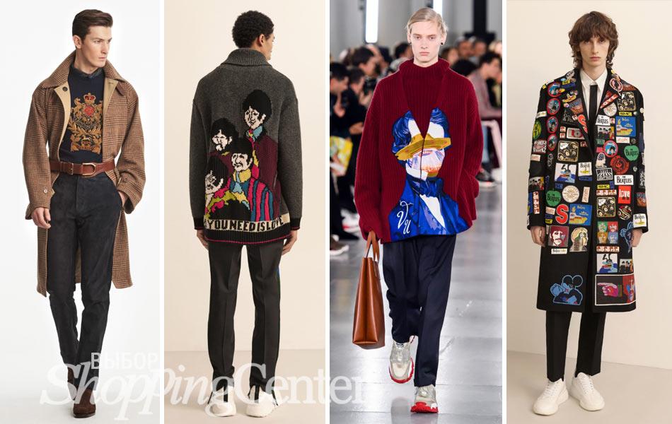 Модные принты в мужской одежде 2019: Ralph Lauren, Stella MacCartney, Valentino