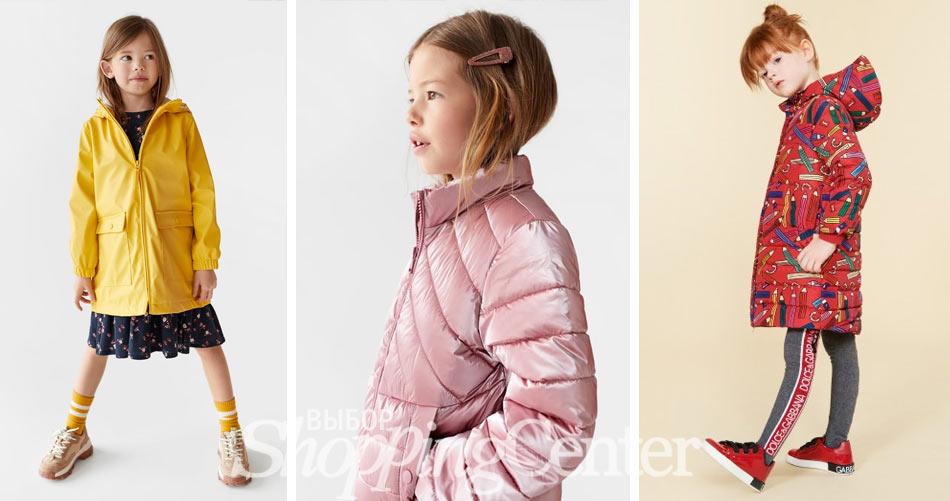 Модные осенние куртки для девочек. Фото: Zara, Dolce & Gabbana