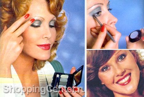 На фото: праздничный макияж 70-х годов