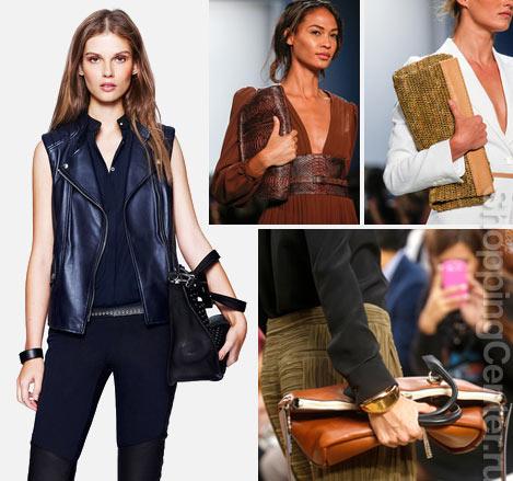 Как модно носить сумку, фото из модных летних коллекций Belstaff, Michael Kors, Chloe