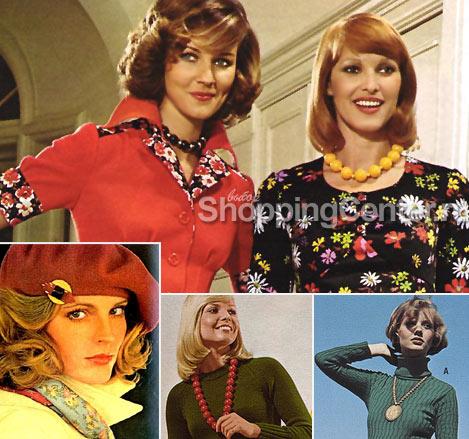 На фото: модные украшения 70-х годов