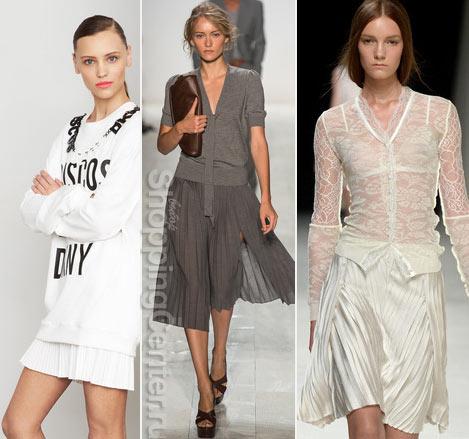 Модные юбки 2019. Фото из модных коллекций: DKNY, Michael Kors, Nina Ricci