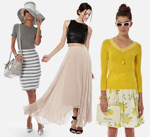 Модные юбки года. Самые популярные модели.