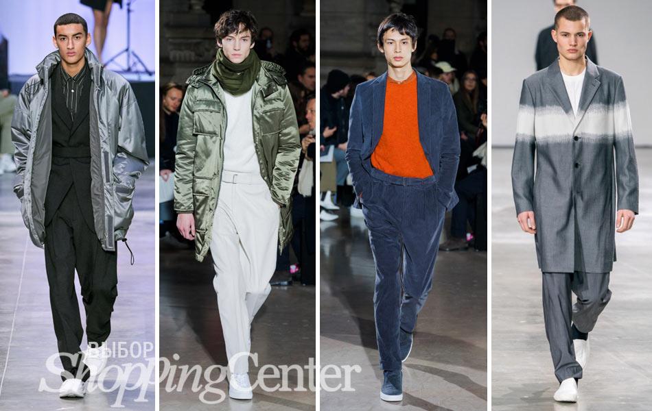 Мужская мода - 2019, фото: пальто Cerruti 1881, одежда Officine Generale, пальто Issey Miyake