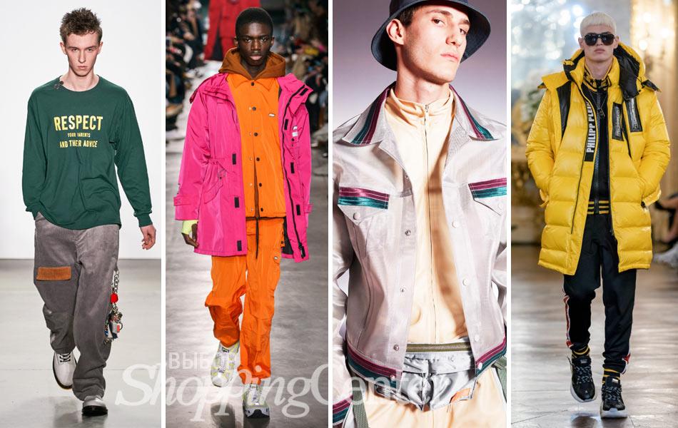 Мужская мода 2019: спортивный стиль. Фото: LandLord, MSGM, Pigalle, Philipp Plein