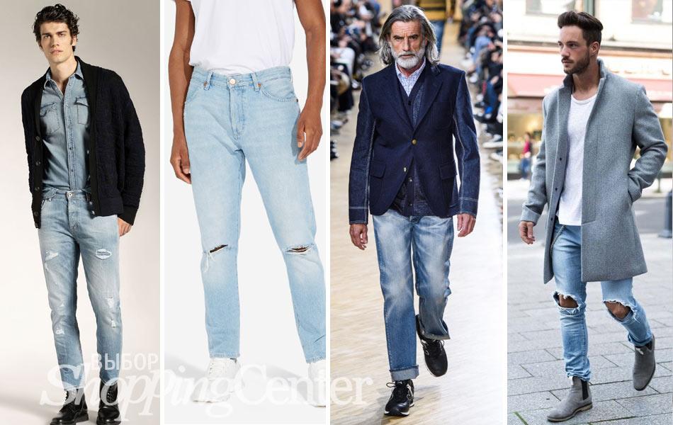 Мужская мода - 2019, фото: джинсы Dondup, модные джинсы Wrangler, джинсы и пиджак Junya Watanabe, джинсы и пальто