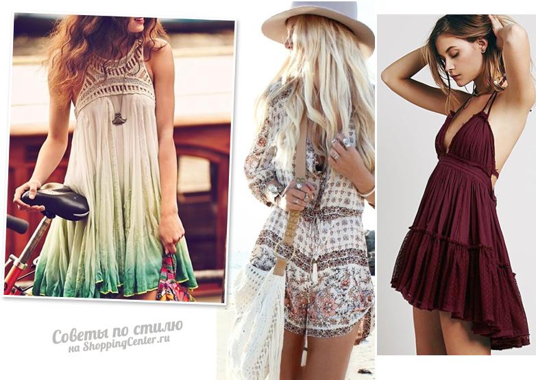 В одежде бохо очень важны струящиеся ткани