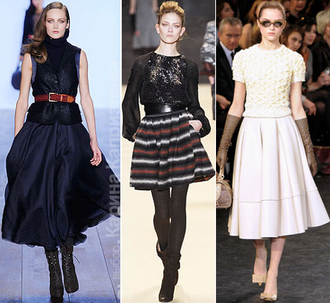 На фото юбки из коллекций: Tommy Hilfiger, ADAM, Louis Vuitton