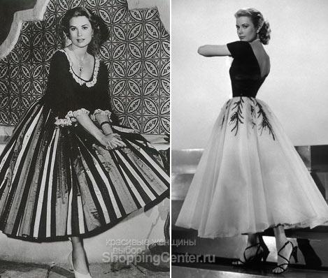 Грейс носила пышные, очень женственные юбки и платья