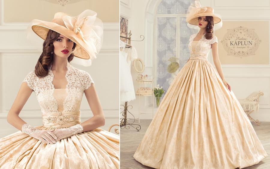 На фото свадебное платье из коллекции Kaplun