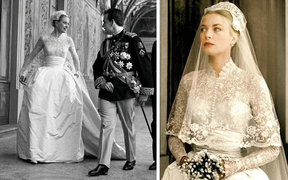 На фото свадебное платье Грейс Келли