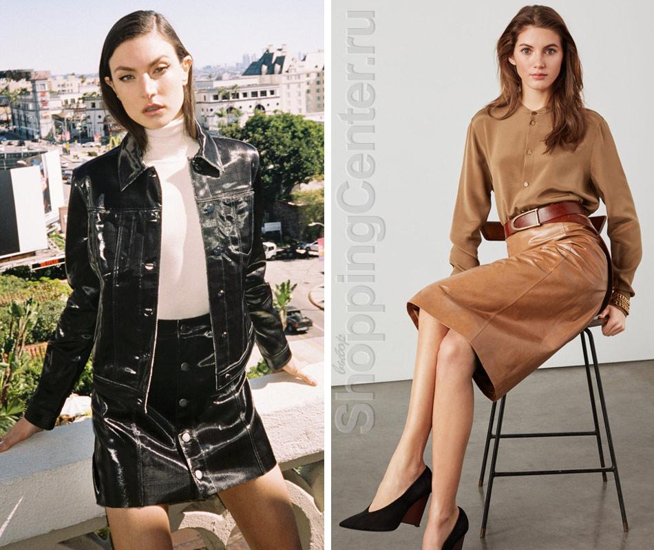 Кожаные юбки из коллекций J Brand и St. John