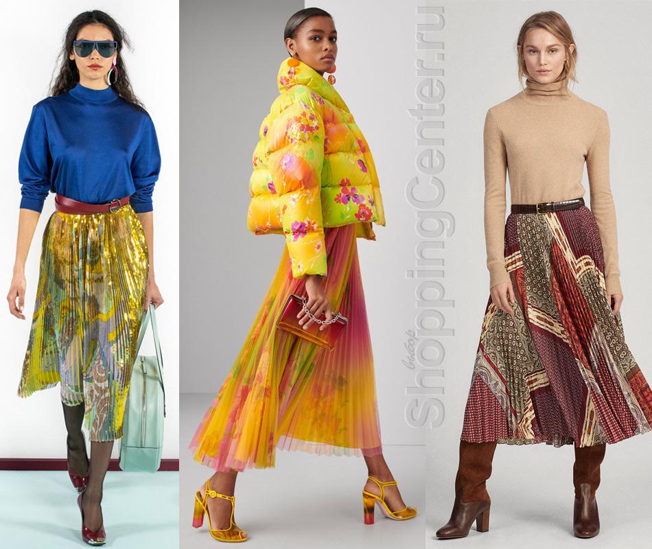 Плиссированные юбки из модных коллекций Emilio Pucci и Ralph Lauren