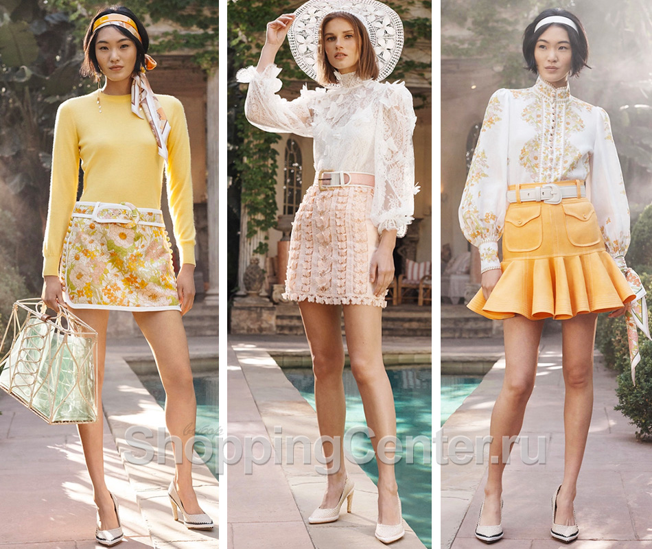 Короткие юбки из коллекции Zimmerman