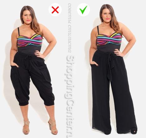 Одежда, которая полнит: укороченные брюки