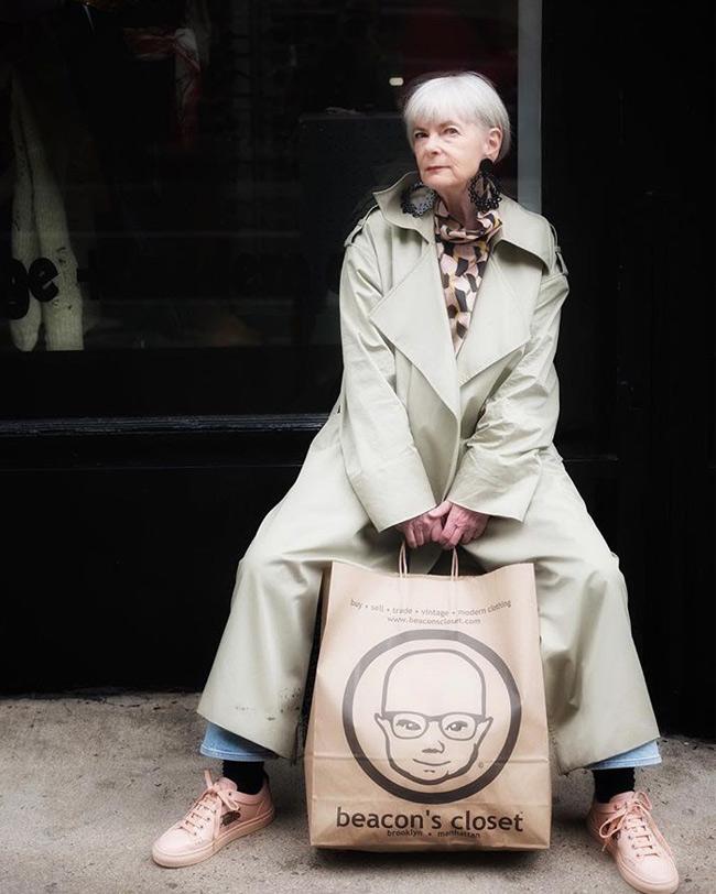 Мода для женщин за 60. На фото Лин Слэйтер