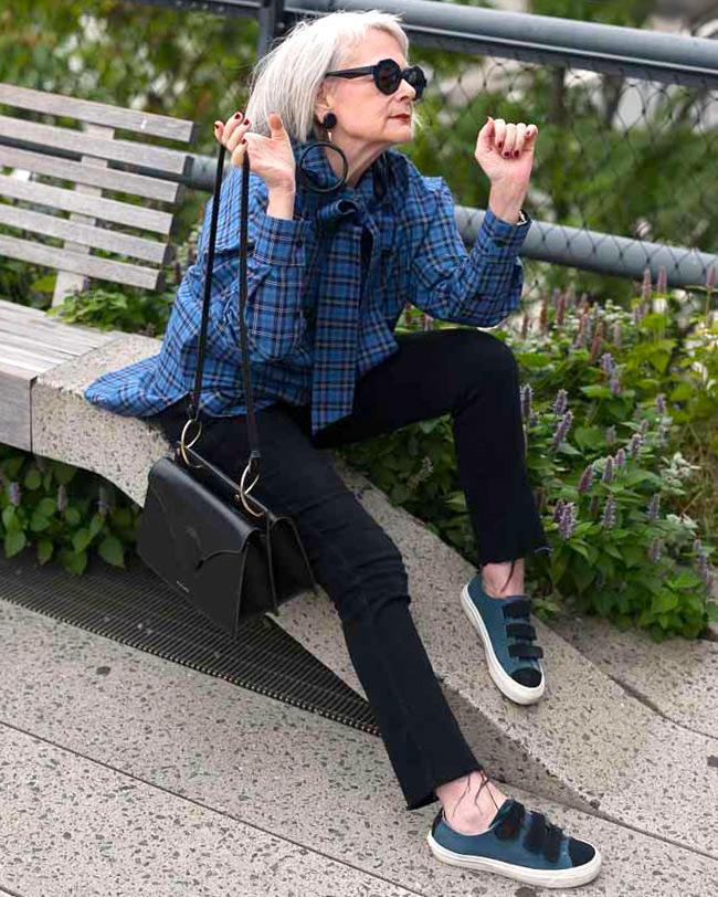 Фото, как одеваться женщинам за 60. Лин Слэйтер