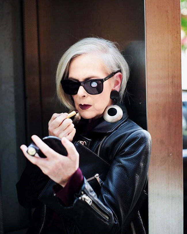 На фото модная женщина Лин Слэйтер