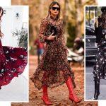 Идеи, как носить сапоги с платьем