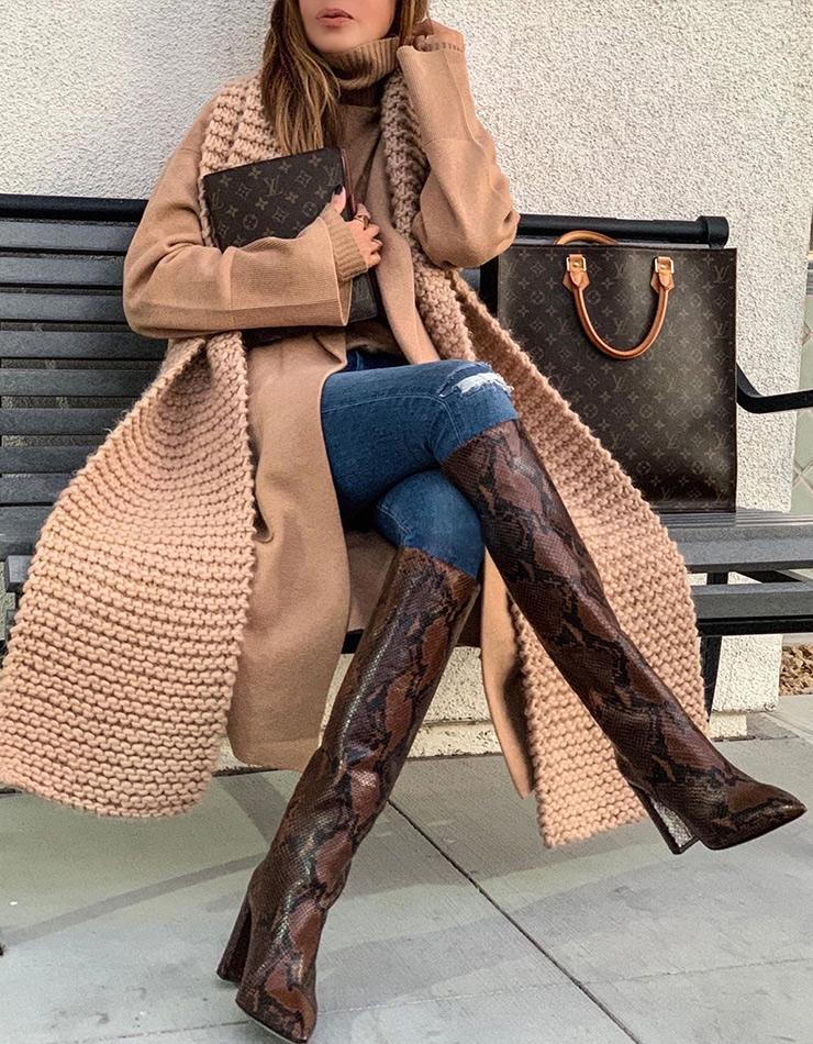 Пример, как одеваться зимой стильно