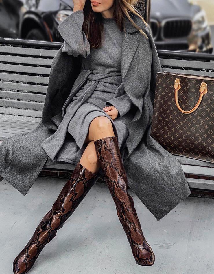 Пример, как одеваться зимой красиво