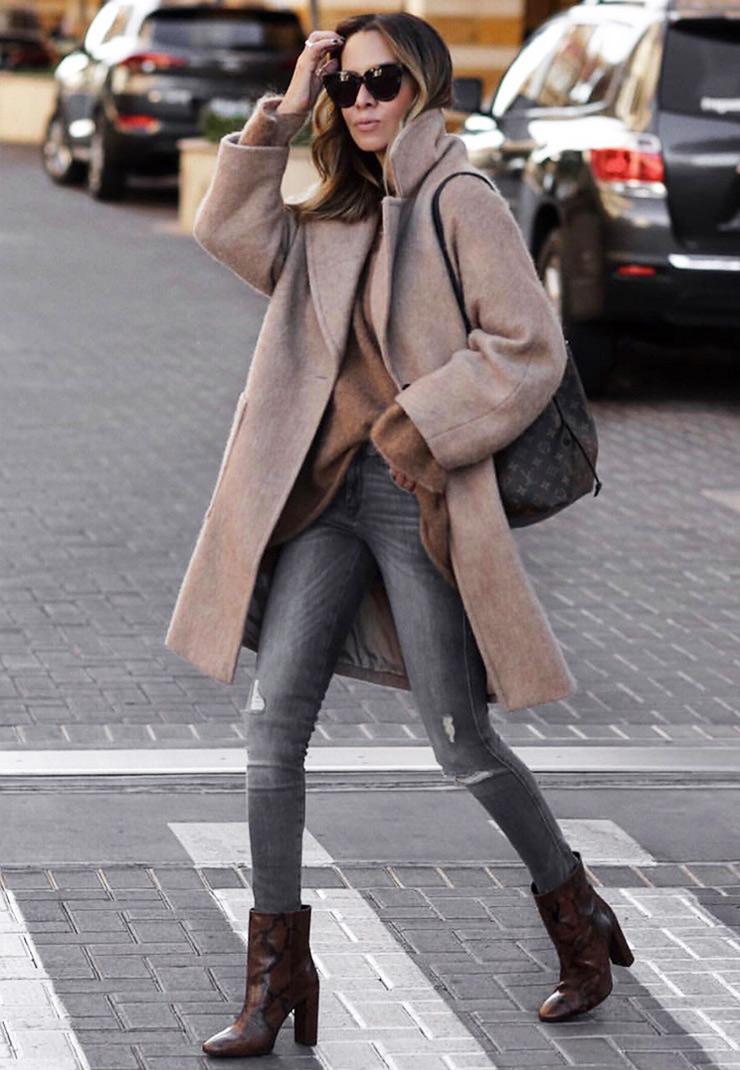 Пример, как одеваться зимой стильно и тепло