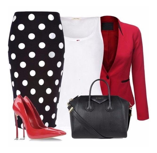 Одежда в горошек для делового стиля