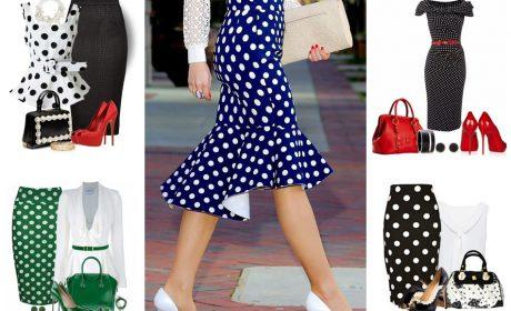 Одежда в горошек: блузки и юбки. 8 самых эффектных сочетаний
