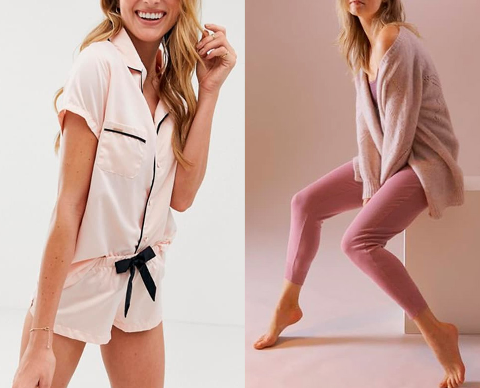 Домашняя одежда в розовых тонах
