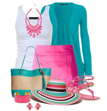 Цвет в женской одежде