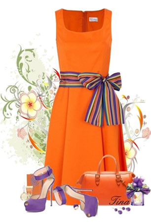 Пример сочетания с оранжевым