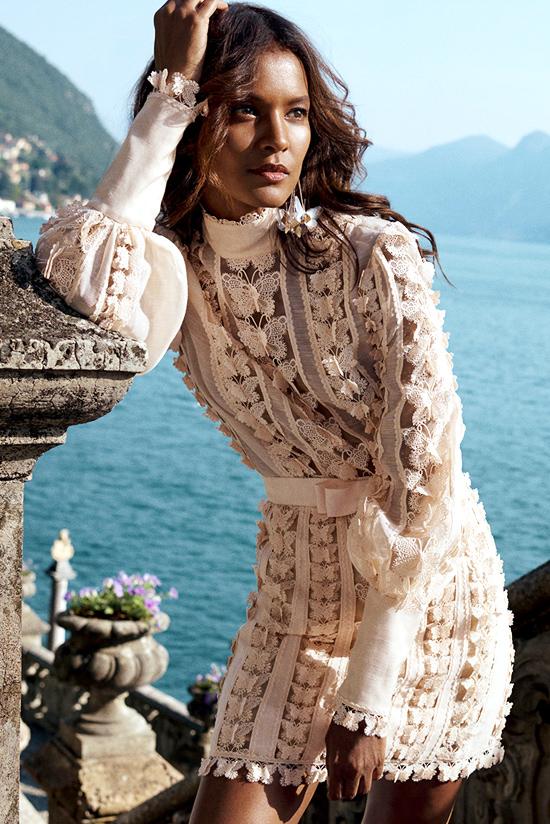 Модное кружевное платье из коллекции Zimmerman