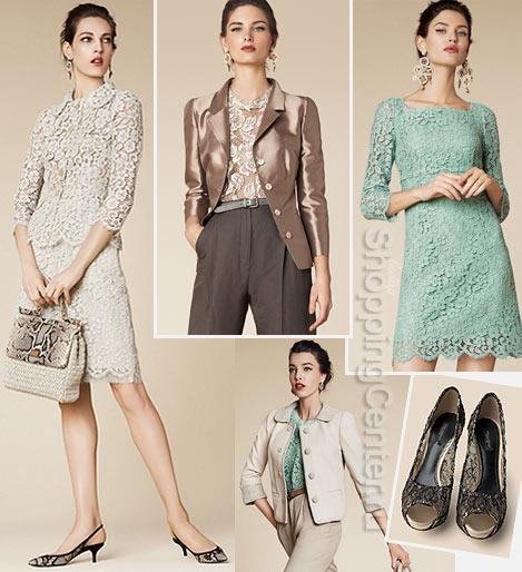На фото кружевные вещи из модной коллекции Dolce&Gabbana