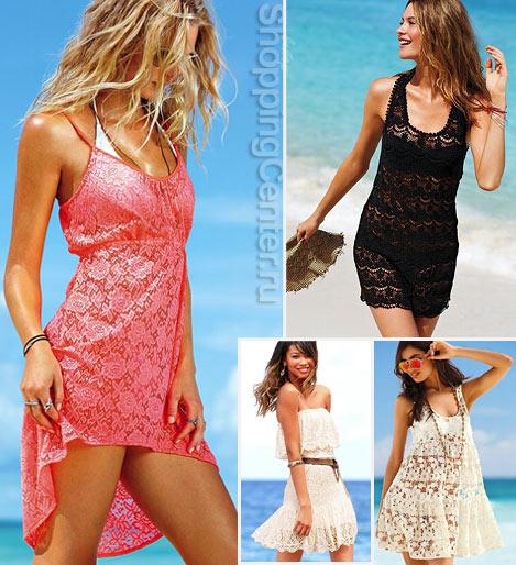 На фото короткие кружевные платья 2020 из коллекции Victoria's Secret.