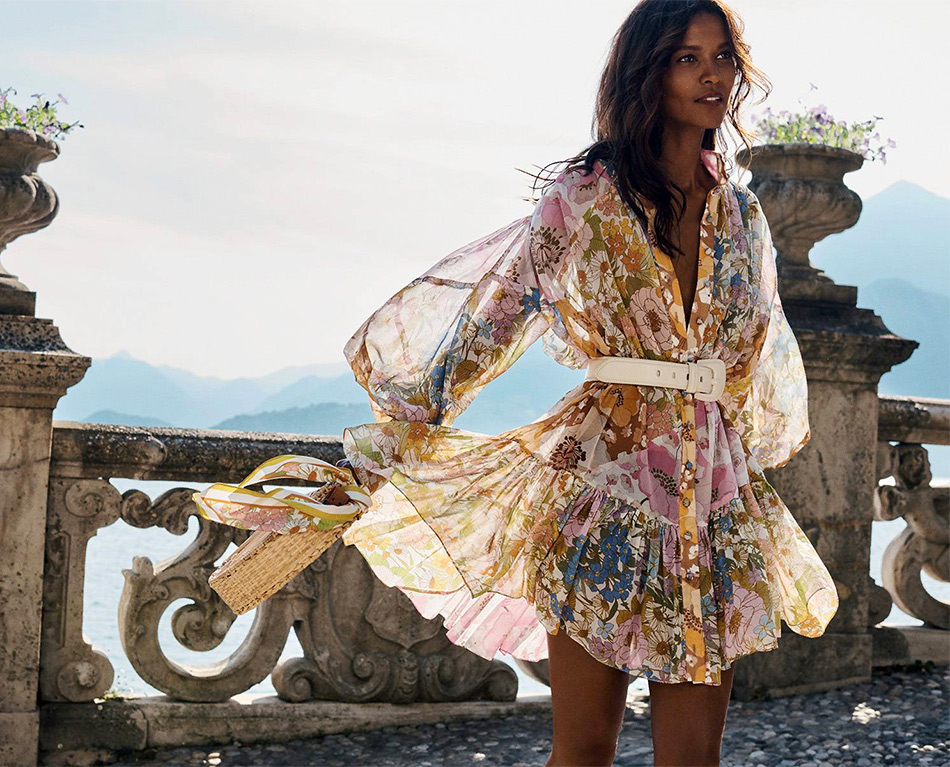 Мода на лето. Платье из коллекции Zimmerman