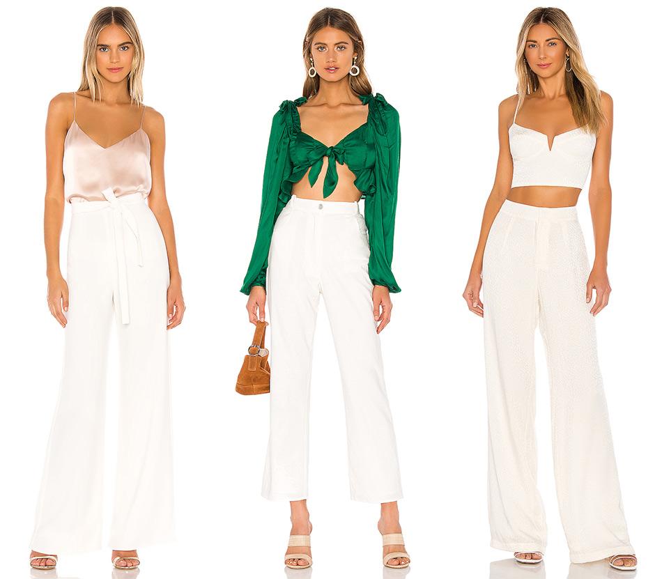 Мода на лето: белые брюки