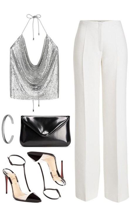 Модные вещи на лето: белые брюки