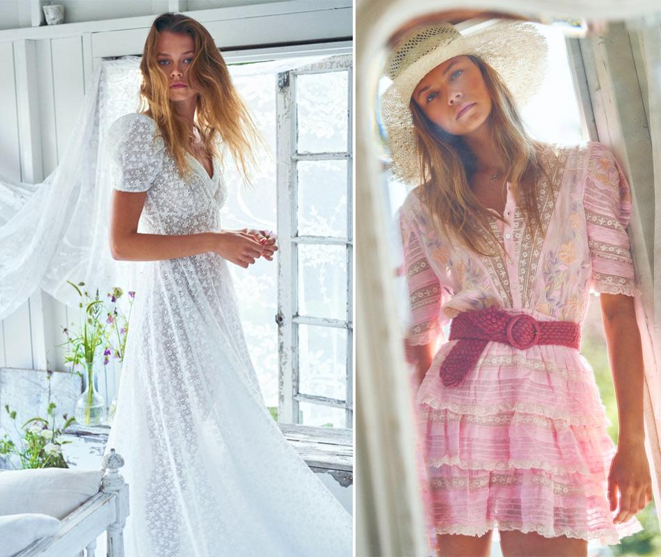 Платья в романтическом стиле из коллекции LoveShackFancy