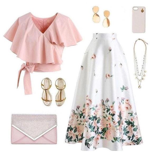 """С чем носить юбку летом? С модной """"воздушной"""" блузкой"""