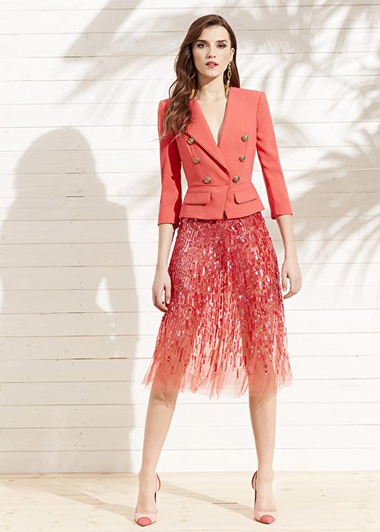 Юбка и жакет из модной коллекции Elisabetta Franchi
