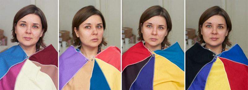 Тест на определение цветотипа. Фотографии: Алина Нарбекова