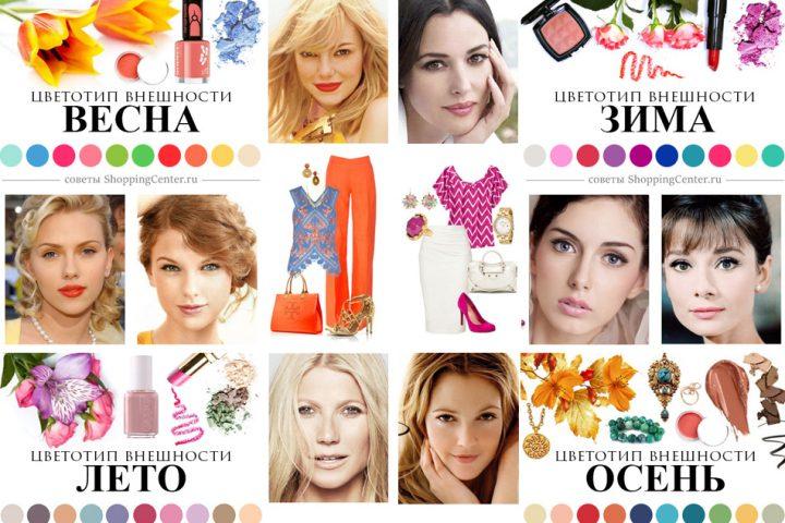 12 цветовых типов внешности и тест, как определить свой цветотип