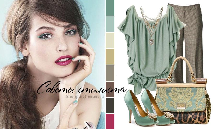 Пример, какая одежда подходит цветотипу Темное Лето