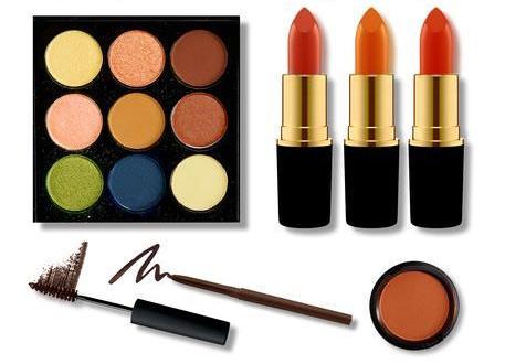 Цвета макияжа для женщин цветотипа Темная Осень