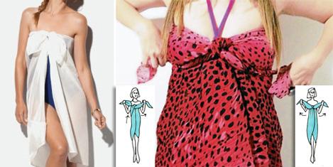 Примеры, как сделать платье из парео